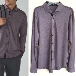 LULULEMON Men's Rival Button Long Sleeve Shirt